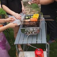 Heavy duty charocoal/gas barbecue grill smokeless electric mini BBQ grill