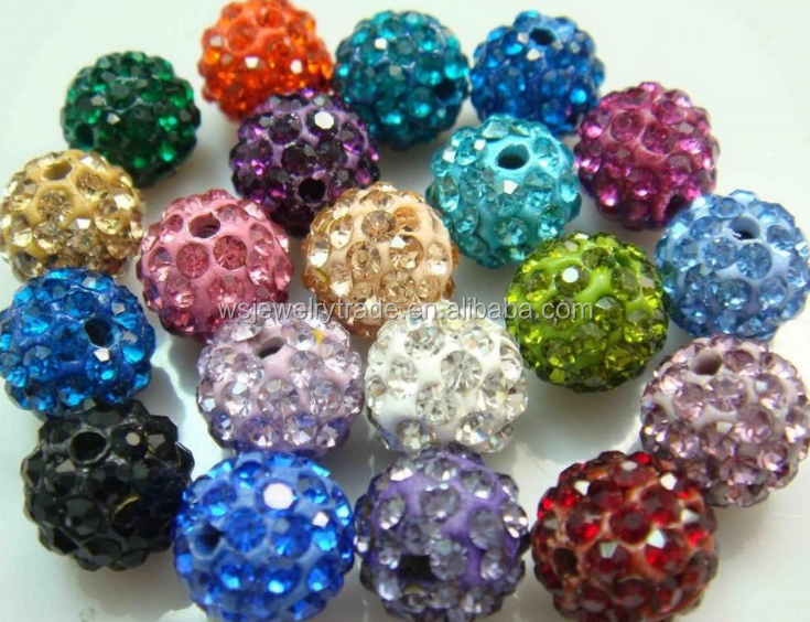 10MM Jewelry DIY Rhinestone Clay Beads Factory Direct Sale