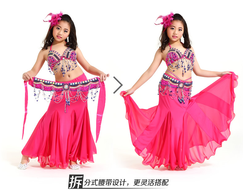 2016 Fashion Sexy Noble Children Teen Girls Belly Dance Costumes Suits With Long -3709