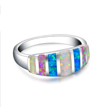 RI00242 Yiwu WT bring good lucked opal ring fashion white gold ring jewelry for women