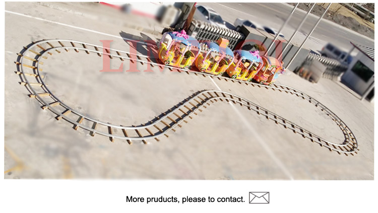 factory price Electric Tourist Track fashionable Trains amusement equipment rides garden track trains