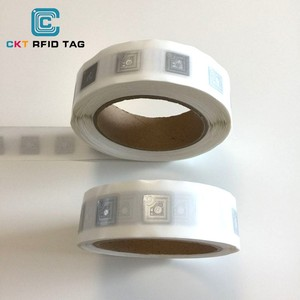 Manufacturer EPC GEN2 passive ALN 9654 H3 Rewrite UHF RFID sticker label