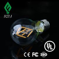 New replacement 60watt e26 e27 2w 4w 6w 8w A60 A19 size dimmable led filament bulb