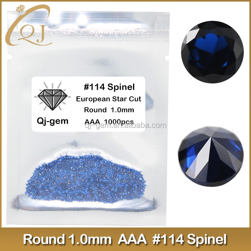 Sapphire blue loose round brilliant cut heat resistant lab spinel stones
