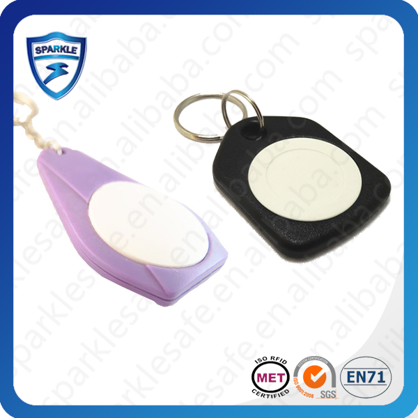 Manufacturer of colorful rfid key fob laser engraved serial number