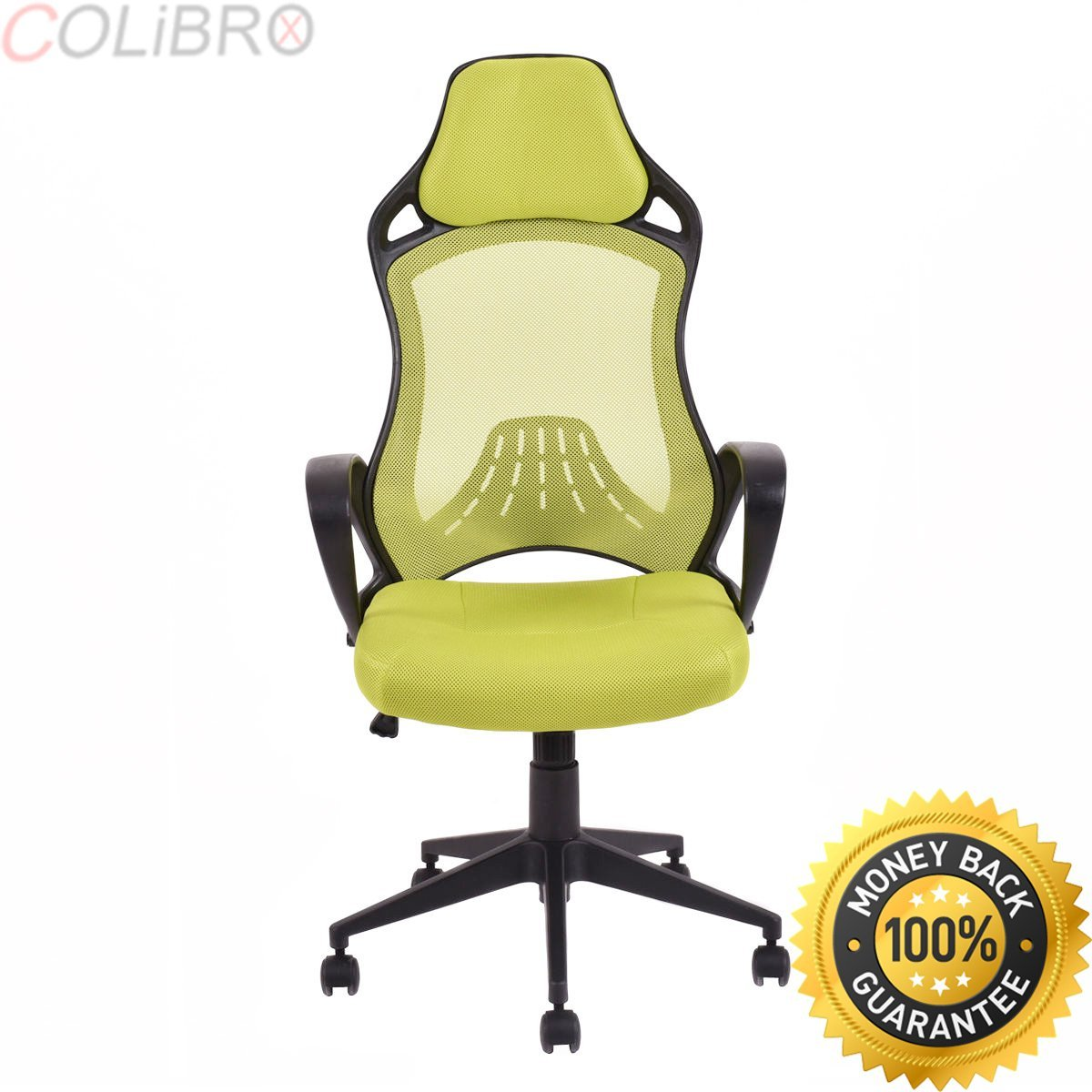 COLIBROX--Executive Racing Chair Mesh High Back Swivel Gaming Office Chair Desk Task Green. executive racing office chair pu leather swivel computer desk seat high-back. amazon gaming chair.