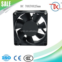 DC Fan 7025 Electronic Cooling Fan 3Pin Wire 70mm 5v 12v 70x70x25mm DC Brusless Cooling Fans For Inflatables