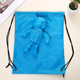 animals shopping drawstring bag polyester cute reusable shaped foldable