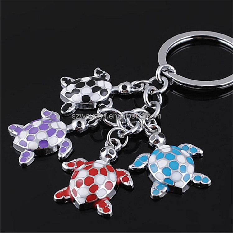 Random Color! Lovely Cute Surfer Sea Turtles Keychains Bag Charms Car Keyrings Key chain Gift