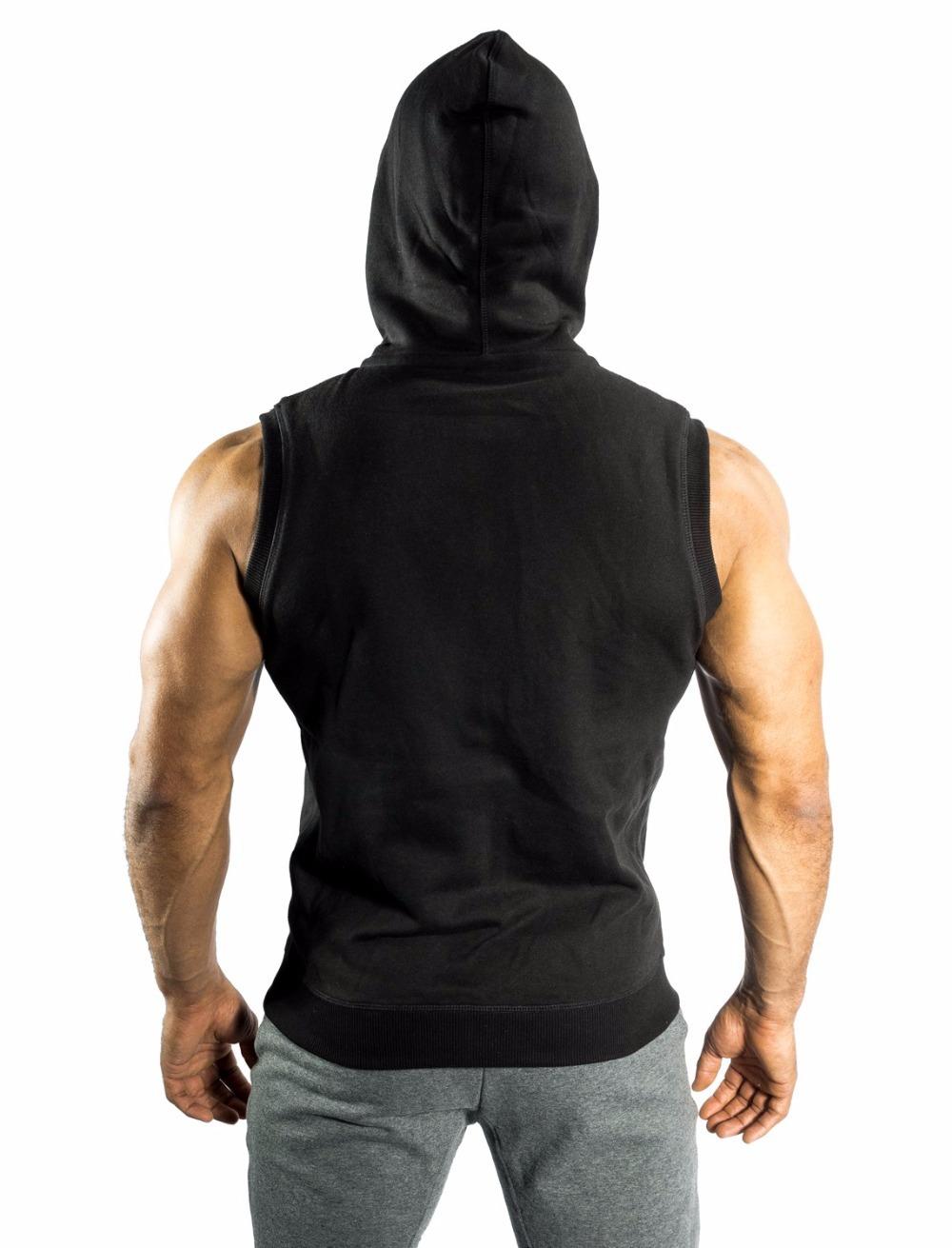 Mens sleeveless zip hoodie