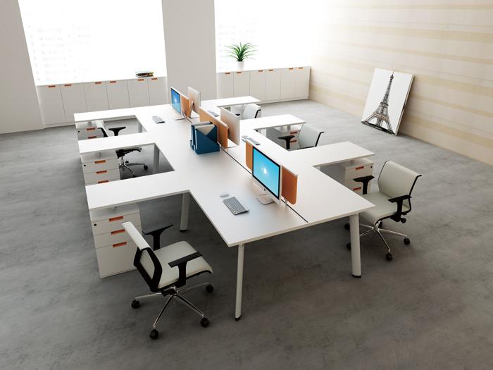 Modern Office Table Long Benching Desks Furniture Workstation For 6 Person Jk 10c