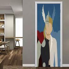 Мультфильм герой портретная дверь наклейки для детской комнаты спальня паук Железный домашний декор обои самоклеющиеся ПВХ наклейка DIY обн...(Китай)