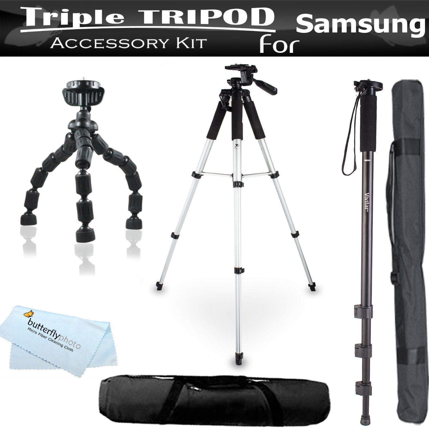 Buy Must Have Accessory Kit For Samsung WB35F, WB30F, dv150f