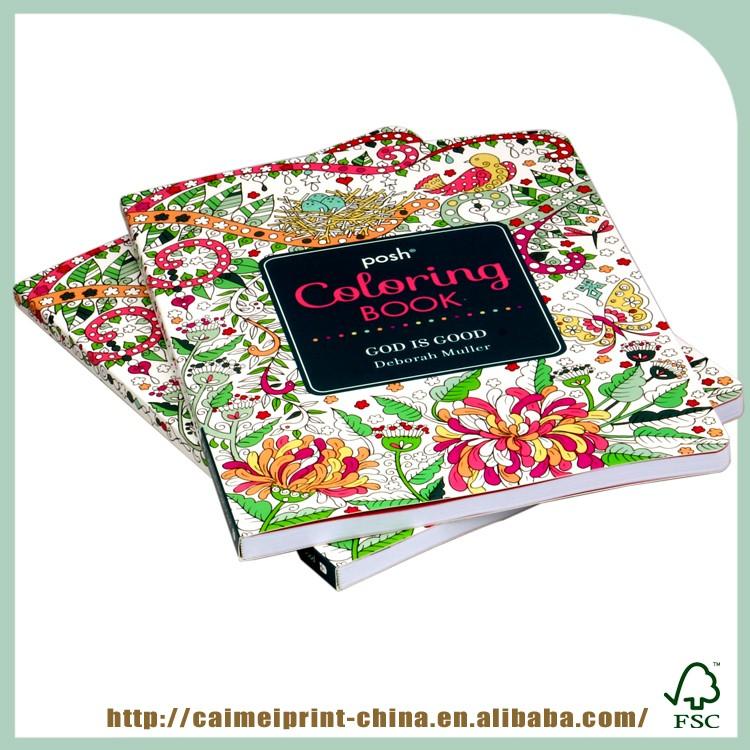 China Hot Sale Custom Coloring Book Adult Drawing Book Printing ...