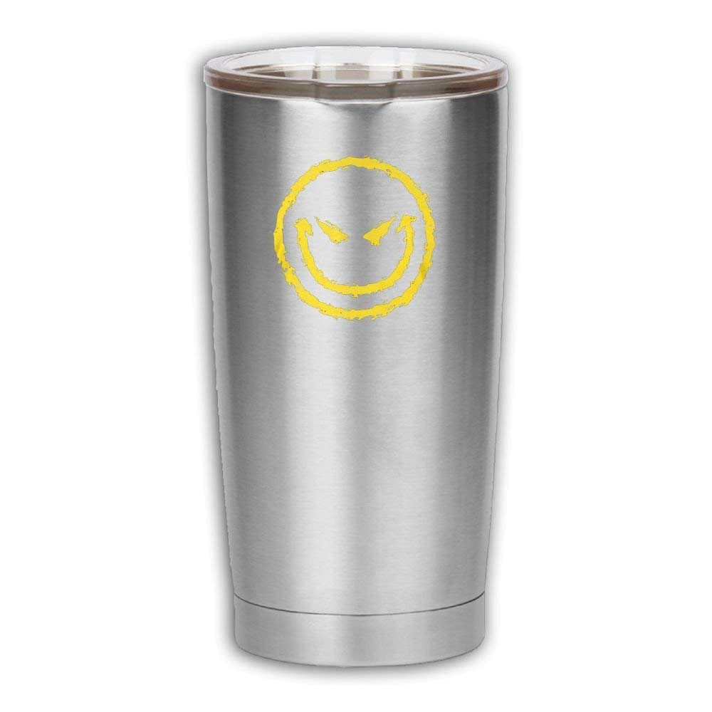 6cfa974cf948c Get Quotations · Oswald Carnegie I Hate You Smiley Stainless Steel  Insulated Travel Tumbler Cup Drinking Thermal Mug For