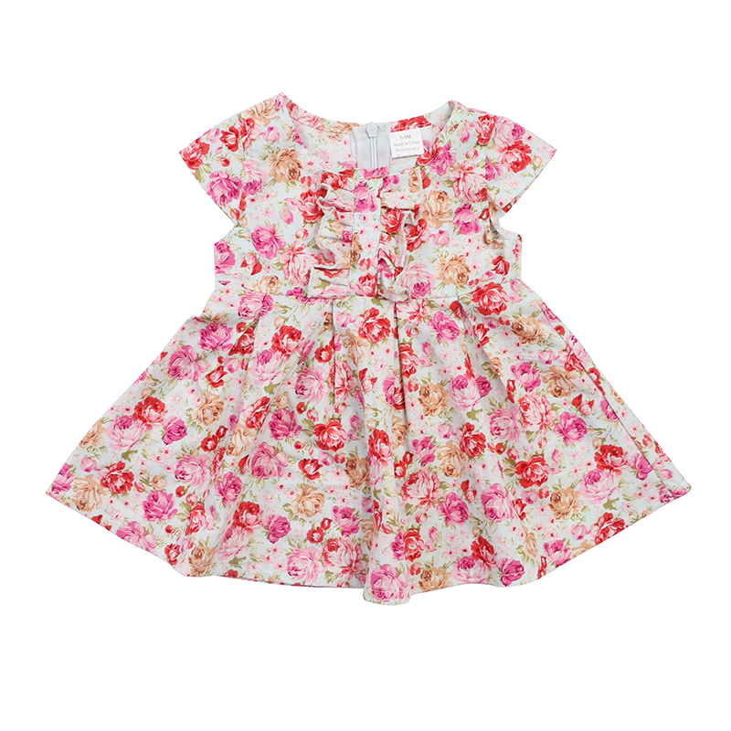 2019new products top with capric print kid baby clothes newborn girl outfits