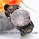 2016 latest design vintage wide strap leather wholesale wrist watch