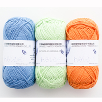 Super soft pure color cotton crocheting yarn for baby wear