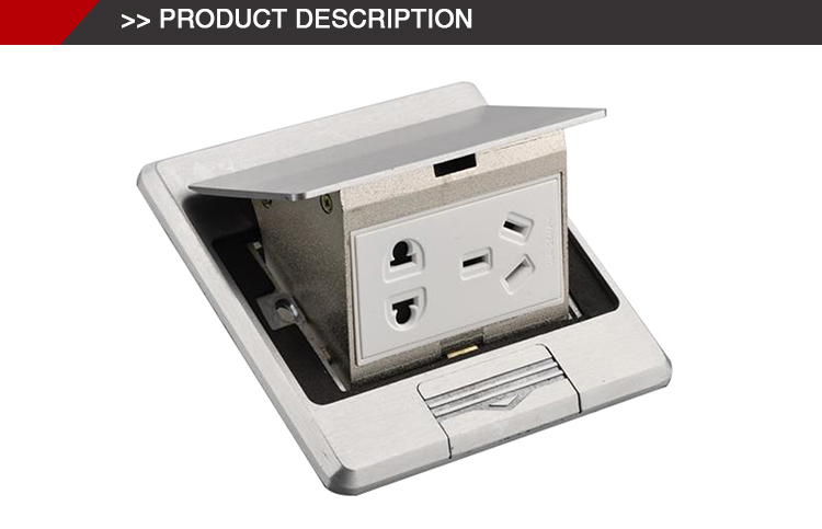 Hot sale 13A general standard raised brass floor socket