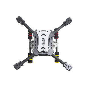 SAGA E350+ 350mm Wheelbase Quadcopter Frame Kit with Carbon Glass Mixed Fiber Landing Skid Gear for FPV Multicopter