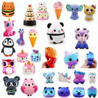 Wholesale Eco-friendly Soft Kawaii Stress Relieving Squeeze Slow Rising Squishy Cat Animal Toy