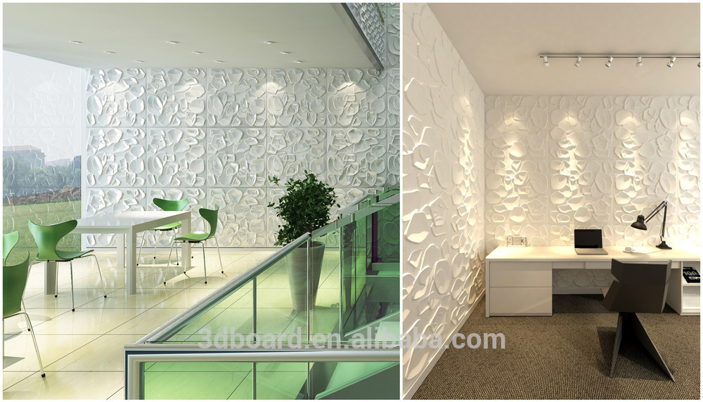 Natural Material Eco Friendly Interior Soundproof Concrete Wall Covering