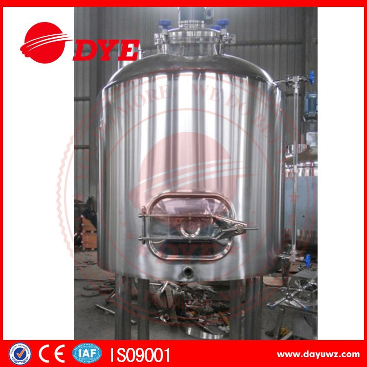 500L stainless steel 304 steam heated brewing equipment, mash tun/kettle/tank made in china