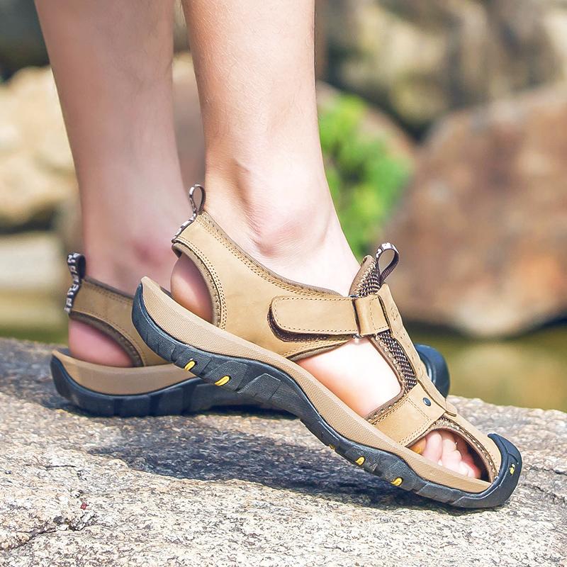 Sandalias Verano Los Casual Hombres Zapatos Genuino De Zapatillas Libre Cuero Suaves Zurriago Aire Inferiores Al n0Ok8Pw