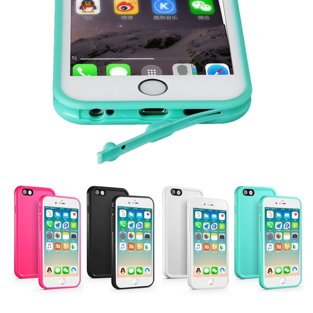 IP68 Plastic Hard PVC Cell phone Shockproof Smartphone Universal Waterproof Phone Case for iphone 5 6 6S