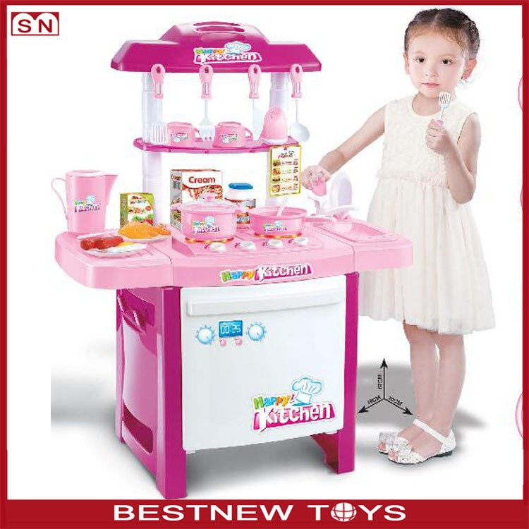 Chinese toy manufacturers kids happy kitchen play toys for for Cheap childrens kitchen sets