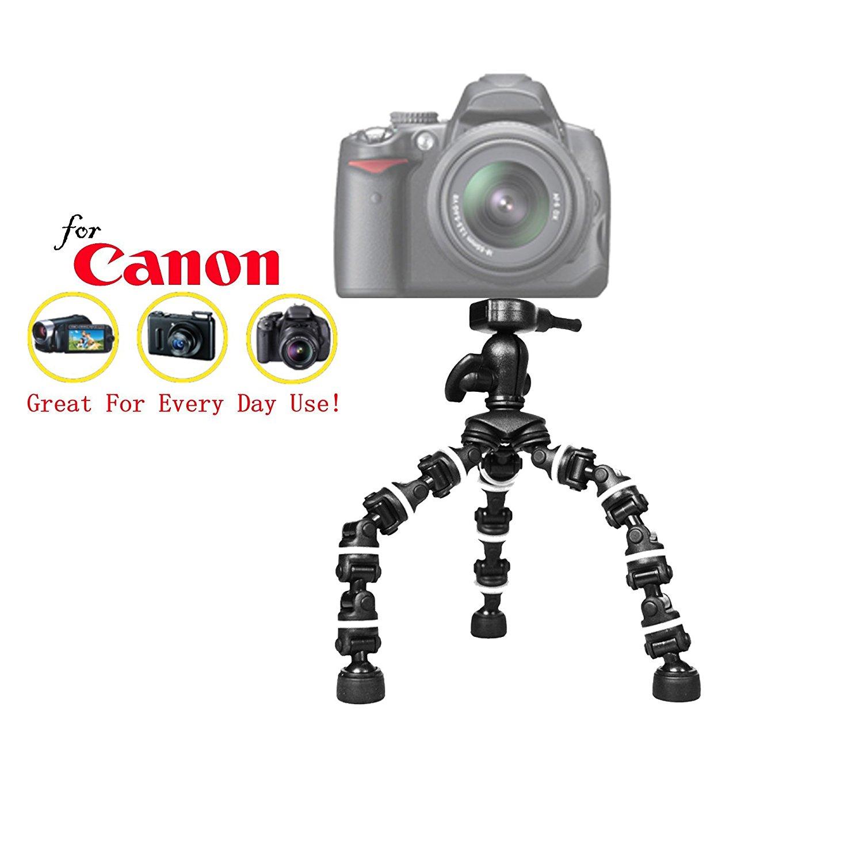 """Pro 13"""" Heavy Duty Flexipod for Canon EOS Rebel T1i, EOS Rebel T2i, EOS Rebel T3i, EOS Rebel T4i, EOS Rebel T5i, EOS Rebel T6i, EOS Rebel T6, EOS Rebel T6s CamerasCamera, 13 Inch Tri-pod Quick Release"""