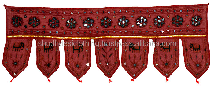 Traditional Hand Embroidery Cotton Door Hanging Toran