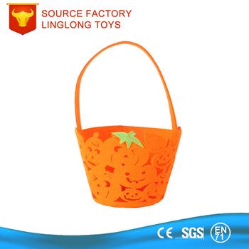 Party Favors Jokes Handmade Non Woven Gift Bag Pumpkin Lamp Gift Basket