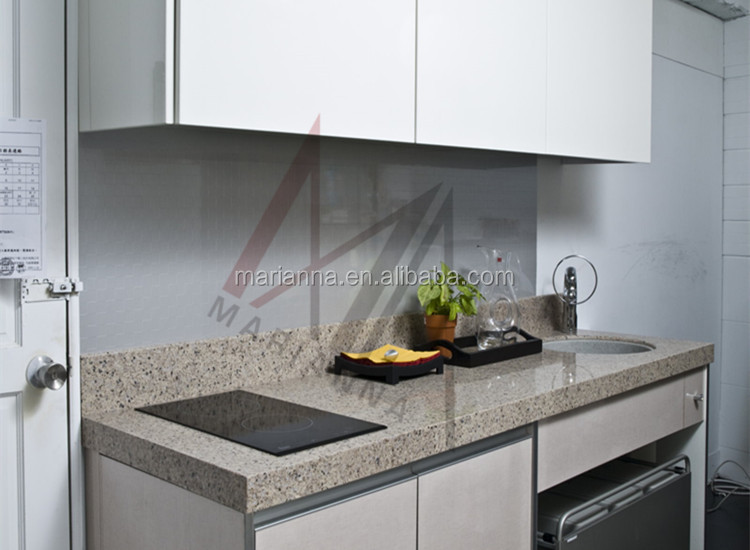 Kitchen Gray Quartz Countertops MA G104 Polyester Resin Artificial Quartz  Stone