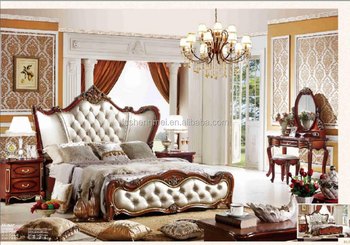 New Red Color Home Furniture Luxury King Size Bed Bedroom ...