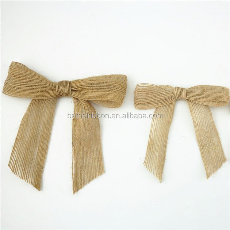 China Directly Custom Ribbon bow for packaging wedding party favors
