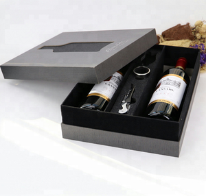 Two bottles of wine glass loading packaging boxes, gift packaging design, Spot UV bottle glass design