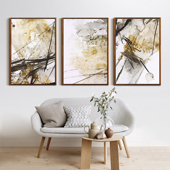 Abstract Framed Canvas Art Printing,Wall Art For Living Rome ...