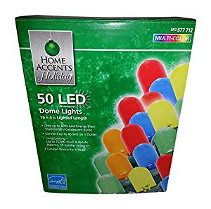 get quotations home accents holiday led dome christmas lights mulicolor 3 x 50 150 total