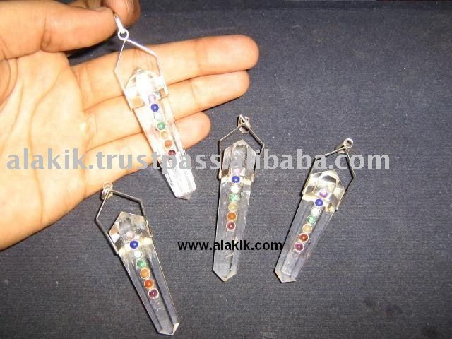 Wholesale Crystal Quartz Chakra Vogel Pendants