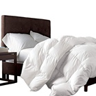 GOOSE DOWN Comforter, 1200 Thread Count 100% Egyptian Cotton 750FP, 50oz, 1200TC, White Solid
