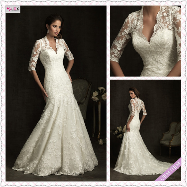 22c3c7015a Turmec » long sleeve off white lace wedding dress
