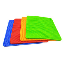 Set of 4 Silicone Pot Holders,Flexible Trivet Mats Multipurpose Kitchen Spoon Rest Table Mat