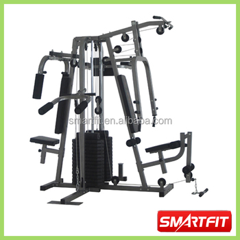 Double Weight Plated 4 Station Home Gym Cheap Whole Body Training Machine Equipment