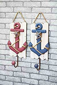 CCWY Wooden ocean winds anchor decorated hooks home decorations wall decoration