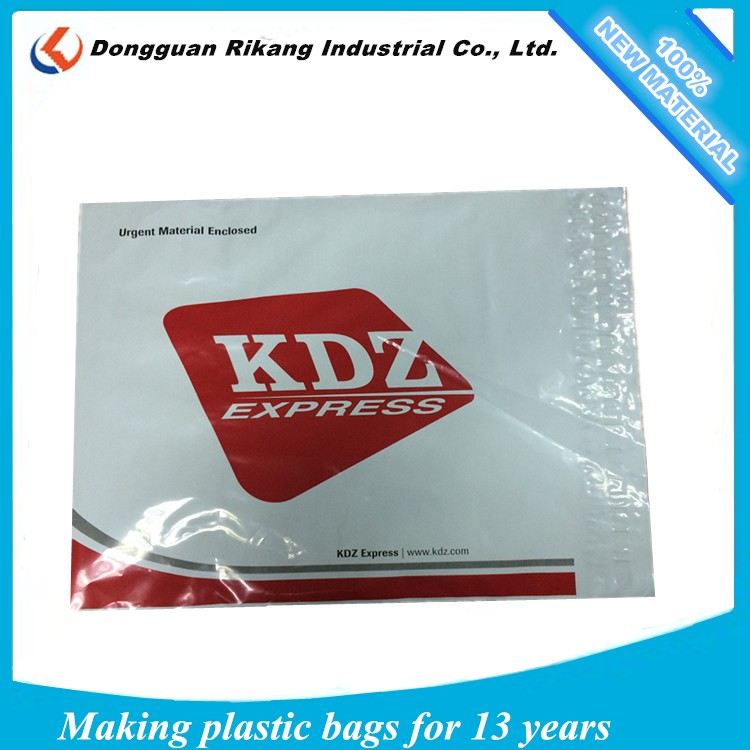 Large plastic file bag with button closure and strong adhesive glue