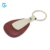 Popular promotion gifts custom leather pick holder metal keychain for souvenir