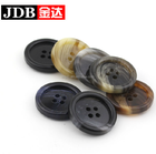 Eco-Friendly Horn Imitation Horn 4 Hole Resin Buttons for Men's Suit Clothing