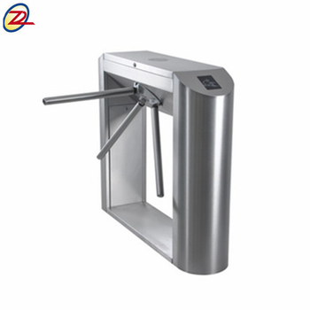 Qr Bar Code Entrance Tripod Barrier Rfid Card Reader Security Turnstile Gate
