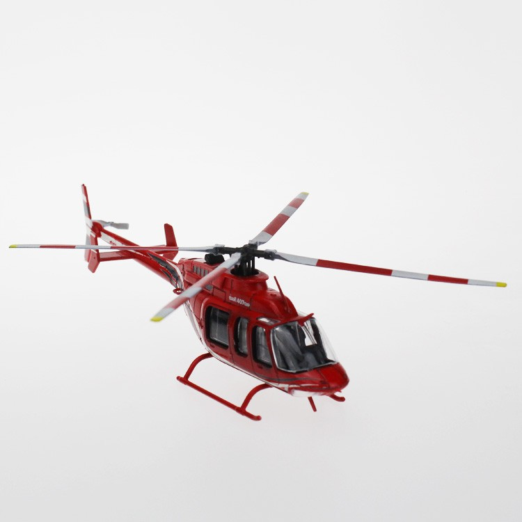 1:72 Scale Bell 407 Gx Die Cast Toy Helicopter Model